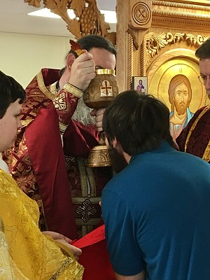 Partaking of the Eucharist